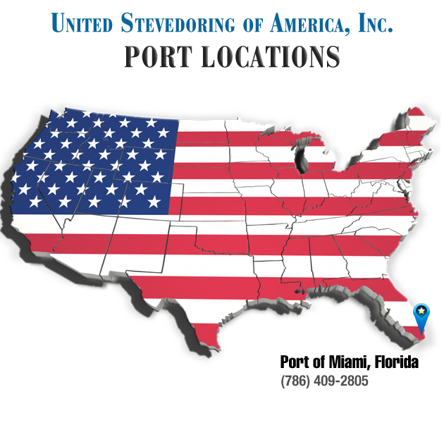 United Stevedoring of America Port Locations